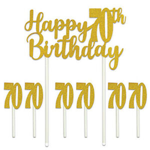 Image Is Loading Happy 70th Birthday Cake Topper