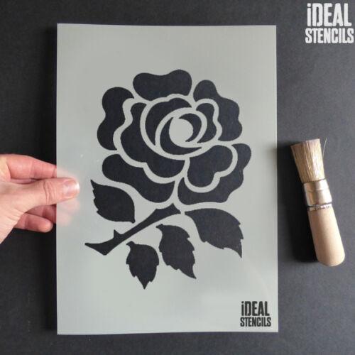 Englisch Rose Deko Schablone st Georges Tag Farbe Handwerk Wiederverwendbar