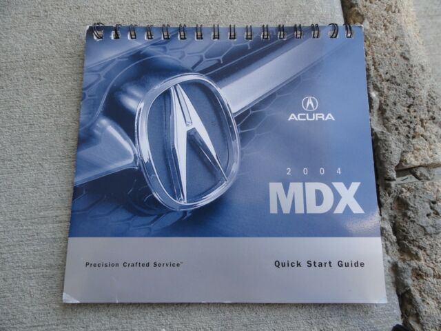 2004 Acura Mdx Quick Reference Guide Owners Manual