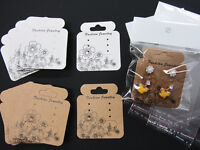 Earring Card & Resealable Clear Hang Bag 5x5.5 Cm Jewelry Display Packaging Jd-2