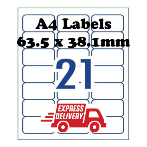 A4 Self Adhesive Address Labels Laser Inkjet Print Mailing Stickers 21 Per Sheet