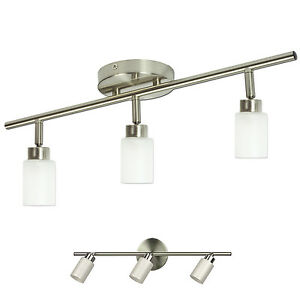Image Is Loading Brushed Nickel 3 Light Track Lighting Fixture Wall