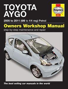 Haynes Manual 6334 Toyota  Aygo Hatchback 1.0L Petrol 2005-2014 998cc