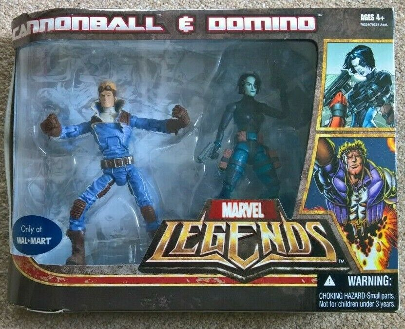 Marvel Legends 2 PACK SERIE CANNONBtutti DOMINO 6 Pollici cifra RARA NUOVA