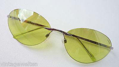 Missoni große Sonnenbrille randlos hellgrüne Gläser farbig leicht GR:L edel