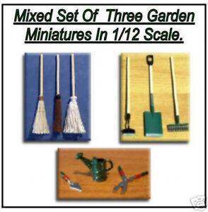 1/12 Dolls House Miniature mix Garden Tools Miniatures Set Shed Garden Shop LGW