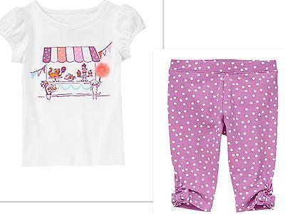 NWT Gymboree PINWHEEL PASTELS Girls Size 5T Shorts /& Tee Shirt Tank Top 2-PC SET