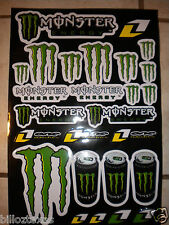 """MONSTER ENERGY DRINK DECALS STICKERS *DOUBLE SIZE SHEET* (17""""X11"""") FREE SHIPPING"""