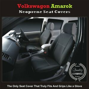 TOP-VOLKSWAGEN-VW-AMAROK-FRONT-PREMIUM-WATERPROOF-NEOPRENE-CAR-SEAT-COVERS