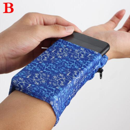 Women Unisex Sports Jogging Running Wrist Bag Cell Phone Passport Holder Outdoor