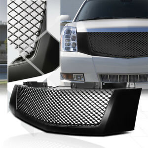 Matte-Black-ABS-3D-Wave-Mesh-Bumper-Grille-Grill-for-07-14-Cadillac-Escalade