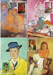 Stamps Sao Tome 1978 Essen Museum Paintings Gauguin Matisse Van Gogh Braque 5 Maxicards Fixing Prices According To Quality Of Products