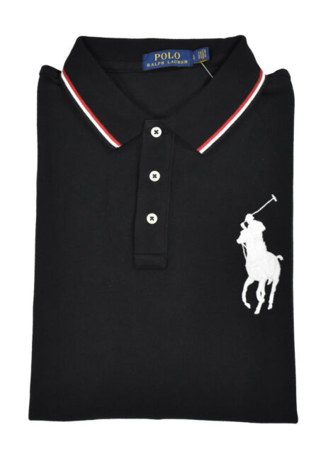Buy Men s Ralph Lauren Long Sleeve Rugby Polo Shirt Big Pony Black ... 97daaa0455ec