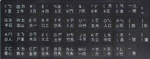 White-Letters-CHINESE-Keyboard-Sticker-Black-for-Laptop-PC-Aussie-stock