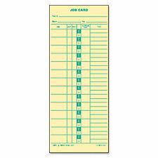 Tops Job Card For Cincinnatilathemsimplex 1 Side 3 12 X 9 500box 1258