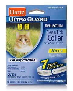 HARTZ-ULTRAGUARD-REFLECTING-FLEA-amp-TICK-COLLAR-CATS-KITTENS-7-MONTH-PROTECTION