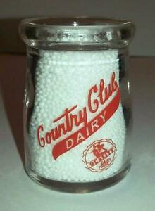 Very Nice Borden/'s Dairy 3//4 oz Glass Creamer Bottle # 1