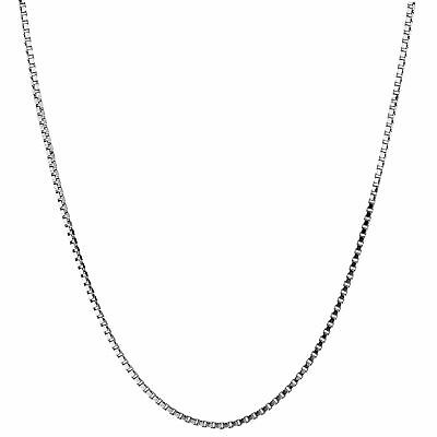 Lifetime Jewelry Pendant Necklace 1 4mm Box Chain Of White Gold Rhodium Plate Ebay