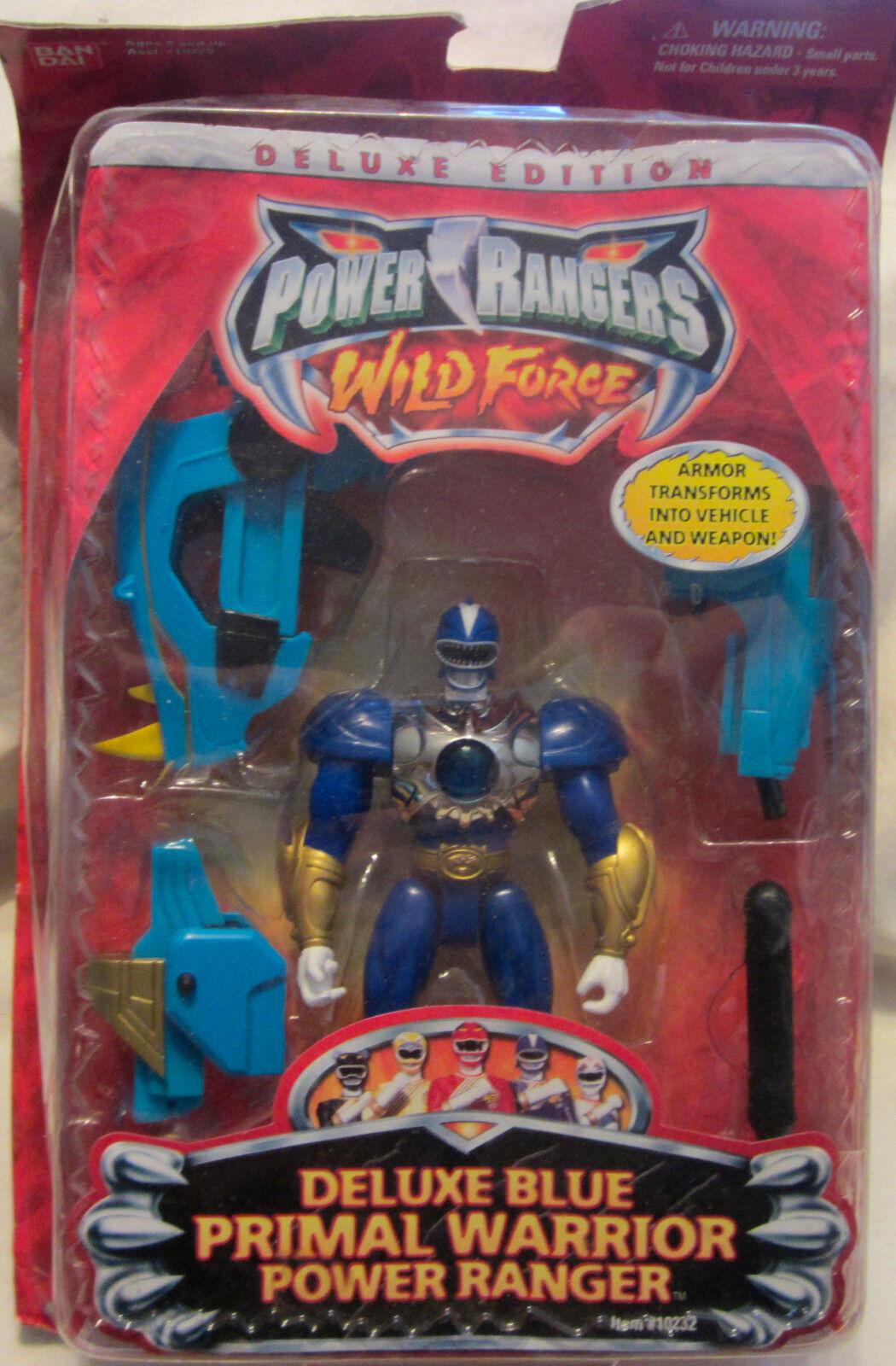 Power rangers wilde kraft  deluxe blau urtümliche krieger power ranger
