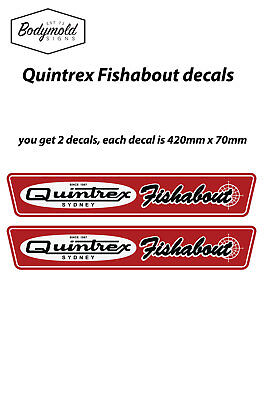 Quintrex Fish About Mk2 Vintage style boat decals
