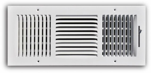 Air Register 3 Way Wall Ceiling Opening Venting HVAC 16 in  x 6 in  Steel  Vent