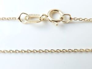 9ct-Yellow-Gold-Tri-Belcher-Chain-Necklace-Lightweight-16-034-18-034-20-034