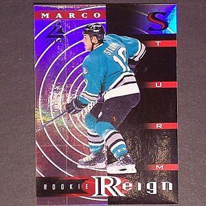 MARCO-STURM-1997-98-Zenith-Rookie-Reign-9-of-15-San-Jose-Sharks-RC-Single