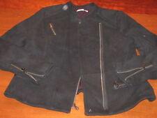 EX GAP black classic MOTO style ZIPPERED closure JACKET L