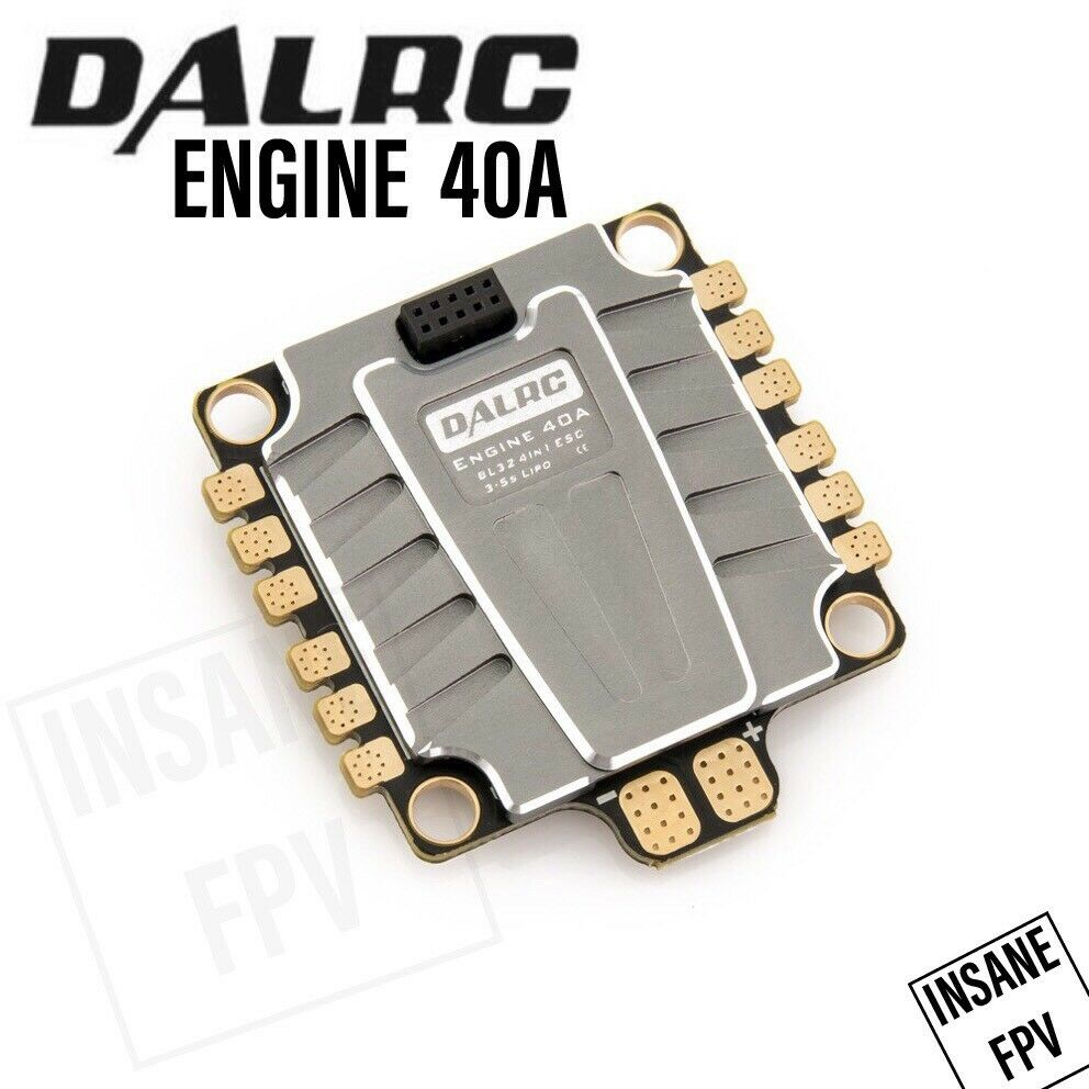 Dalrc Motor 40 A 3-5S 4 en 1 Esc blheli 32 dshot 1200 para FPV Drone Cuadricóptero RC