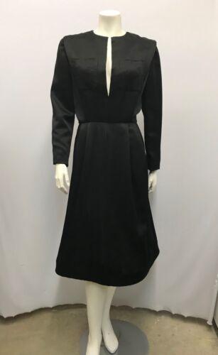 VINTAGE SCAASI BOUTIQUE DRESS COCKTAIL DRESS BLAC… - image 1