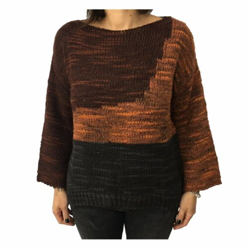 8PM women's sweater wool multicolour copper mod ANGELICA MADE IN ITALY