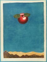 Fred ZELLER : La pomme : Hommage à Magritte #LITHOGRAPHIE SIGNEE # SURREALISME