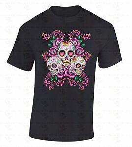Sugar-Skulls-Flowers-T-SHIRT-Day-Of-Dead-Hearts-Stars-Dia-De-Los-Muertos-Shirt