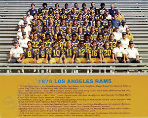 1976 Los Angeles Rams Nfl Football 8x10 Team Photo Picture