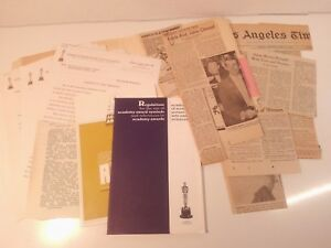 Details about 1966 - 38th Academy Awards - COLLECTION: Press  Releases-Booklets-News Clippings