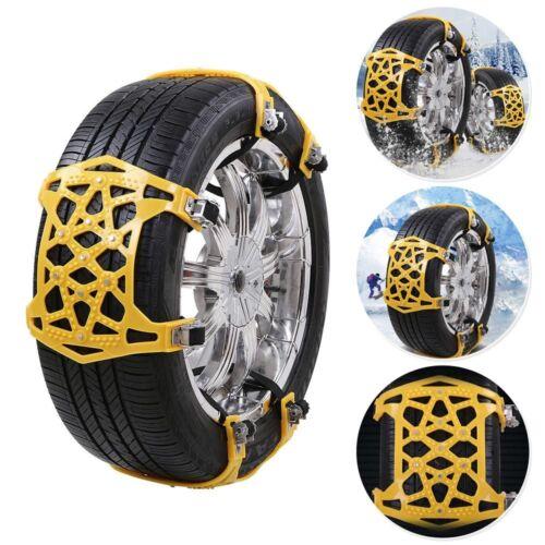 6× Tire Anti-Skid Chains Mud Road Car SUV Emergency Thickening Anti-Snow Yellow