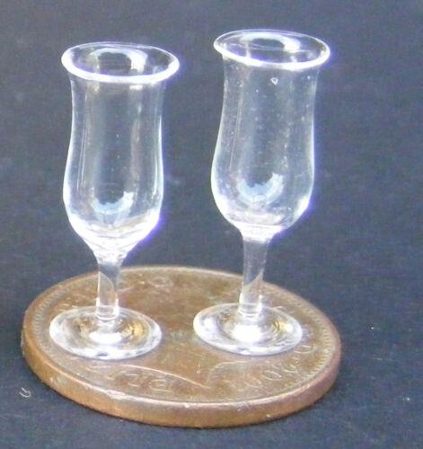 1:12 escala 2 copas de vino tumdee Casa de Muñecas en Miniatura Bebida Accesorio GLA15