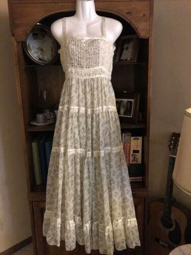 Women's maxi sun dress  sz 5/7, Gunne Sax ivory fl