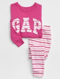 611ea1b4b Baby GAP Pajamas Toddler Girl Size 4T 4 Years Arch PJ Set Pink White ...
