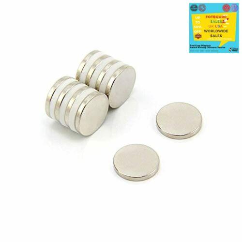 Magnet Expert High Grade Neodymium Flat Circular Round Magnetic Supplies 10pk Uk