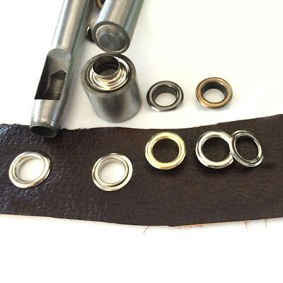 Leather Crafts Eyelet Grommet Setter Tools /& Anvil Die Set Punch Tool 1.5mm-40mm