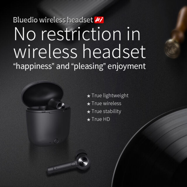Bluedio Hi Wireless Bluetooth Earphone For Phone Stereo Sport Earbuds Headset *