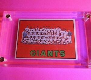 1967-TOPPS-BASEBALL-516-GIANTS-TEAM-Card-EX