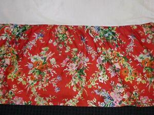VTG Ralph Lauren KING Bed Skirt Dust Ruffle Belle Harbor Red Floral