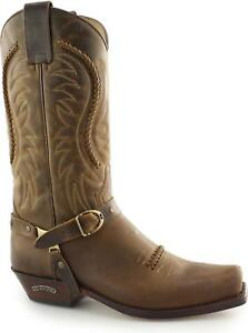 a57c4c62ab9 Details about Sendra 3434 Mens Handmade Spanish Leather Mid Calf Western  Cowboy Boots Tan