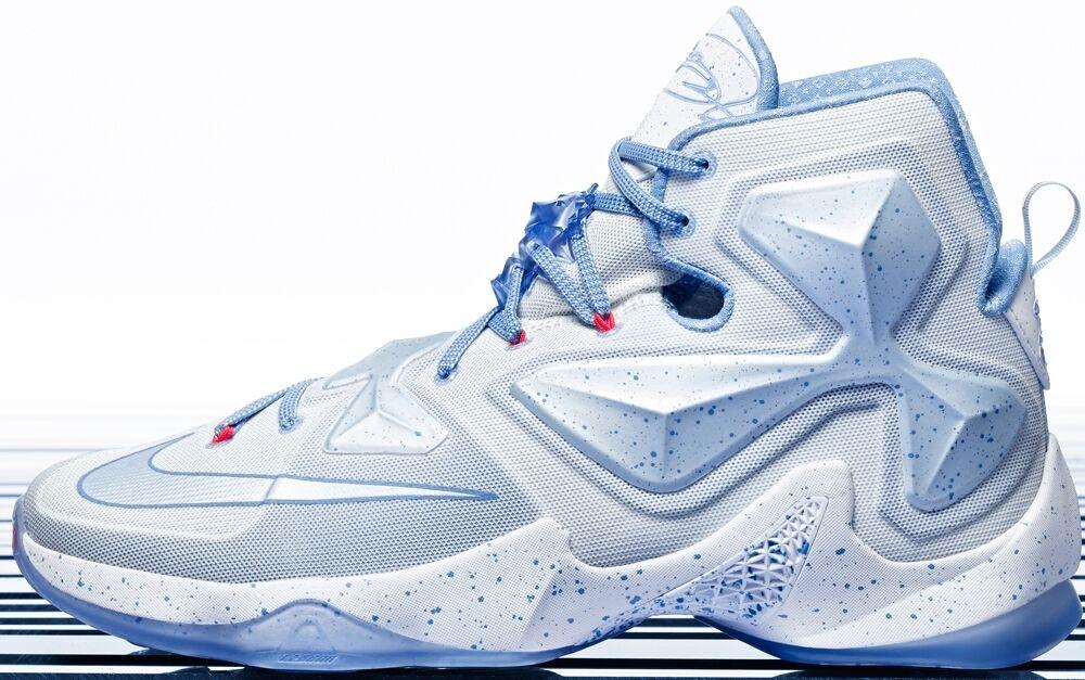 Nike lebron xiii vertice bianco natale maschile di basket scarpe taglia 10