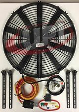 "16"" SPAL ELECTRIC PUSHER FAN W/ WIRING & MOUNTING KIT 30101517 195FH 30130011"