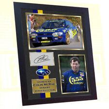 *** New Framed Colin McRae Subaru World Rally Team signed autograph photo print