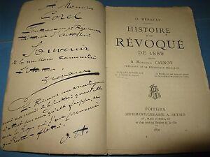 O-HERAULT-HISTOIRE-D-039-UN-REVOQUE-1890-POITIERS-BOULANGISME-CARNOT-ENVOI-Signe