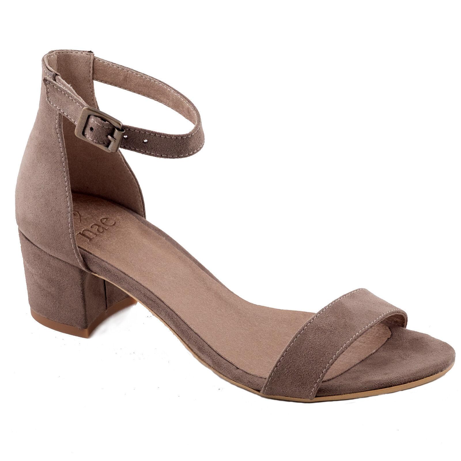 Woman vegan toe Sandale middle block heel peep toe vegan with ankle-strap, ecological 1f4775